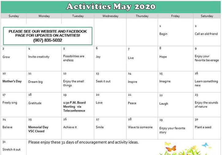valdez senior center lunch activity event